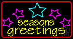 Seasons Greetings With Holy 2 LED Neon Sign