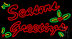 Seasons Greetings With Holy Neon Sign