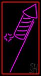 Rocket Fire Work 1 LED Neon Sign
