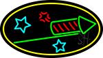 Rocket Fire Work 2 LED Neon Sign
