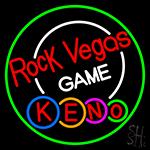 Rock Vegas Keno 1 LED Neon Sign