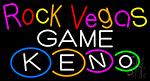 Rock Vegas Keno 2 LED Neon Sign