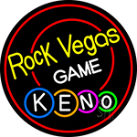Rock Vegas Keno LED Neon Sign
