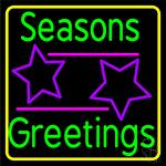Seasons Greetings Block 2 LED Neon Sign