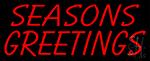Seasons Greetings Block LED Neon Sign