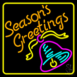 Seasons Greetings With Bell 1 Neon Sign