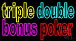 Triple Double Bonus Poker 2 LED Neon Sign