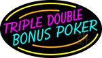 Triple Double Bonus Poker 3 Neon Sign