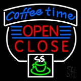Coffee Time Open Closed LED Neon Sign