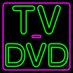 Tv Dvd 2 LED Neon Sign