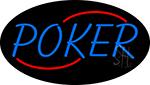 Vertical Poker 3 Neon Sign