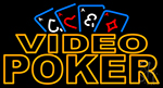 Video Poker With Cards 2 LED Neon Sign