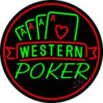 Western Poker 2 Neon Sign