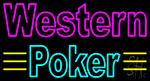Western Poker 3 Neon Sign