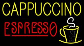Double Stroke Cappuccino Espresso LED Neon Sign
