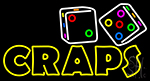 Craps With Dise Neon Sign