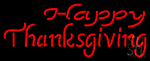 Happy Thanksgiving 2 LED Neon Sign