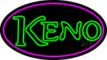 Keno 3 Neon Sign