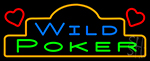 Wild Poker 1 Neon Sign