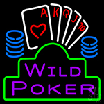Wild Poker 2 Neon Sign