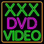 Xxx Dvd Video 1 LED Neon Sign