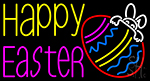 Happy Easter 4 Neon Sign