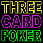 Three Card Poker 2 LED Neon Sign