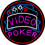 Video Poker 1 Neon Sign