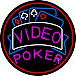 Video Poker 1 LED Neon Sign