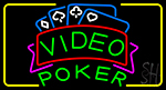 Video Poker 2 LED Neon Sign