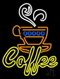 Double Stroke Yellow Coffee LED Neon Sign