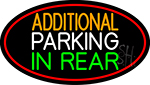 Additional Parking In Rear Oval With Red Border LED Neon Sign