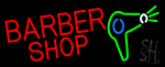 Barber Shop With Dryer And Scissor Neon Sign