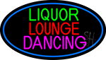 Bar Liquor Lounge Dancing With Wine Glasses LED Neon Sign