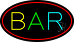 Multi Color Bar Oval LED Neon Sign