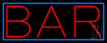 Red Bar LED Neon Sign