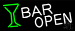 Bar Open With Wine Glass LED Neon Sign