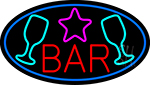 Bar With Martini Glass LED Neon Sign