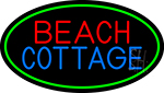 Beach Cottage With Green Border LED Neon Sign