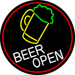 Beer Mug Open Beer LED Neon Sign