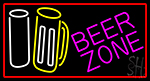 Beer Zone With Beer Mug LED Neon Sign
