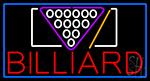 Billiard With Blue Border Neon Sign