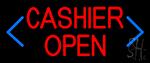 Blue Arrow Cashier Open LED Neon Sign