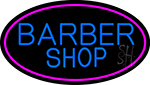 Blue Barber Shop Neon Sign