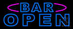 Blue Bar Open Double Stroke LED Neon Sign