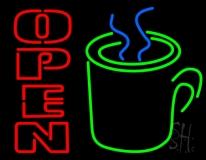 Open Coffee Mug LED Neon Sign