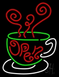 Open Inside Coffee Cup LED Neon Sign
