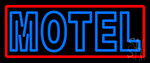 Blue Motel Double Stroke And Red Border LED Neon Sign
