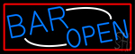 Blue Open Bar LED Neon Sign