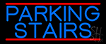 Blue Parking Stairs LED Neon Sign